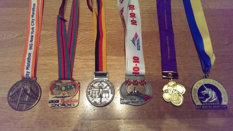 Medals from all of the Big Six
