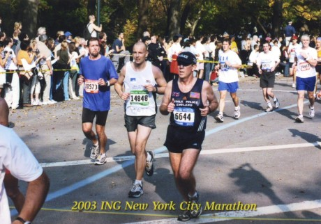 Enjoying the finish through Central Park