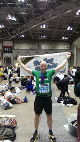 Every runner was handed a towel and medal at the finish