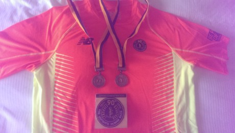 The 2015 finisher medal and back-to-back medal
