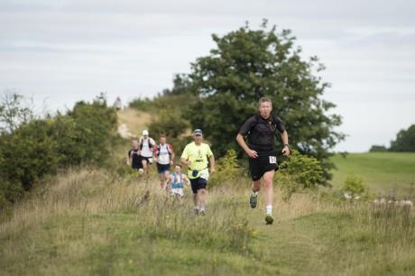 Running along Devil's Dyke